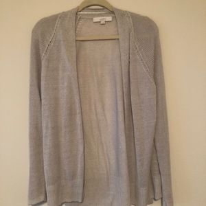 Loft sheer cardigan sweater